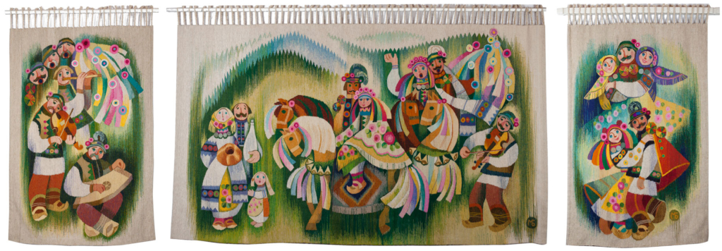 Hutsuls' wedding (triptych)