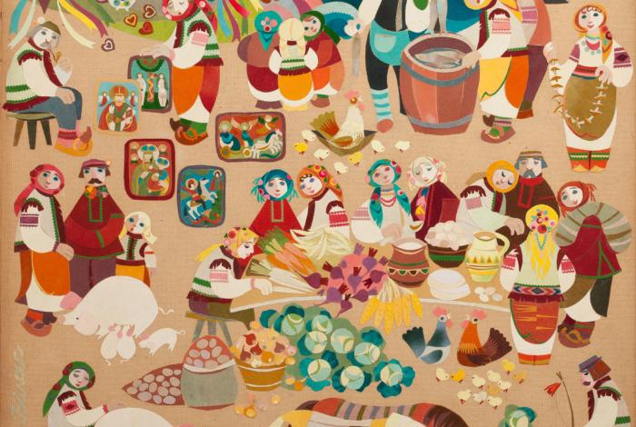 (Українська) Косівський базар (триптих