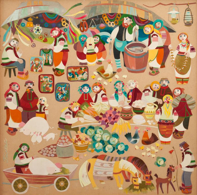 Косівський базар (триптих