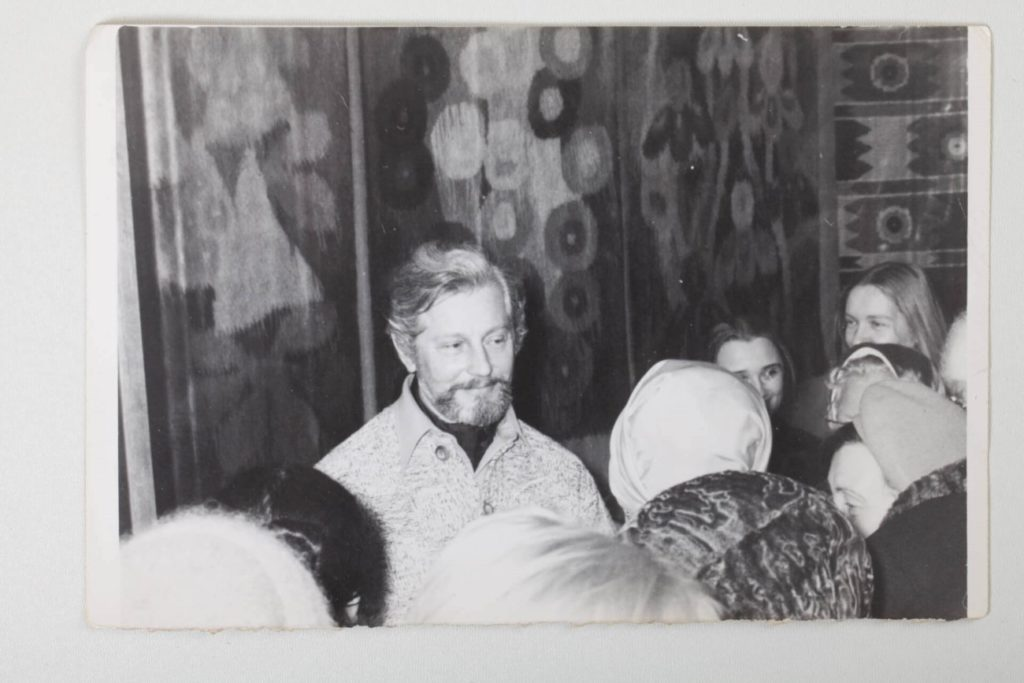 Mykhailo Bilas at the personal exhibition in Kaniv